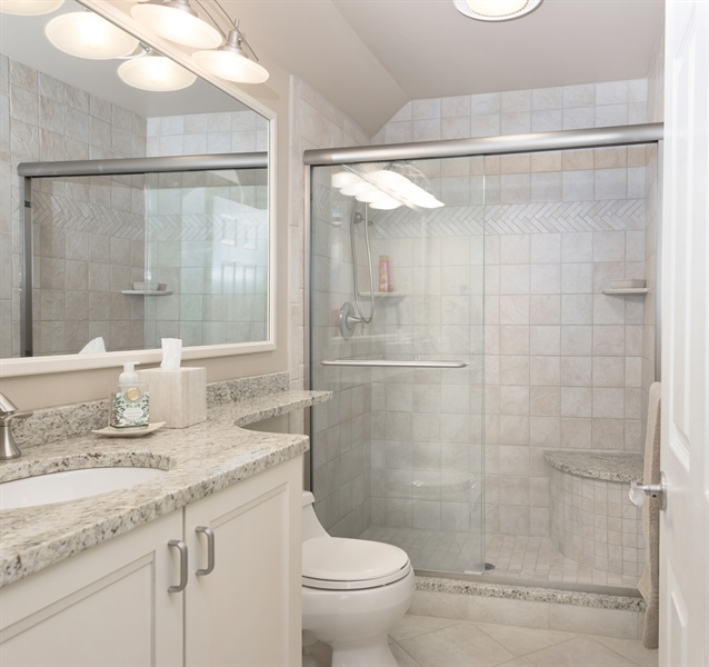 Real Estate Photography - 64 Shipwatch Ln, Chesapeake City, MD, 21915 - MASTER BATH, WALK IN SHOWER