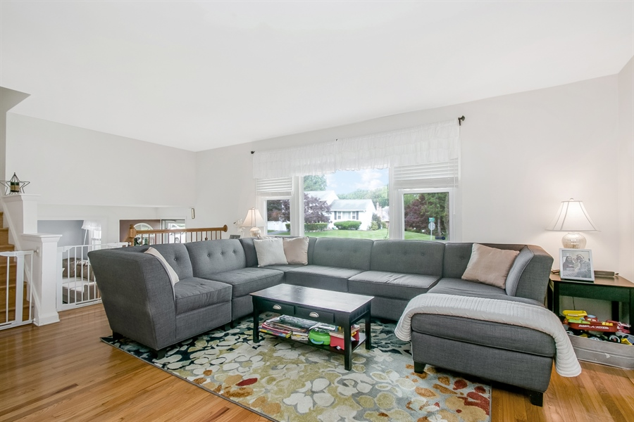 Real Estate Photography - 2040 Floral Dr, Wilmington, DE, 19810 - Living Room with Hardwood Floors