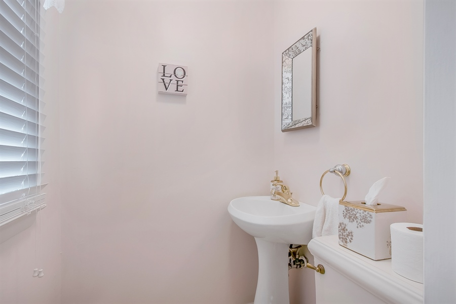 Real Estate Photography - 2040 Floral Dr, Wilmington, DE, 19810 - Updated Powder Room