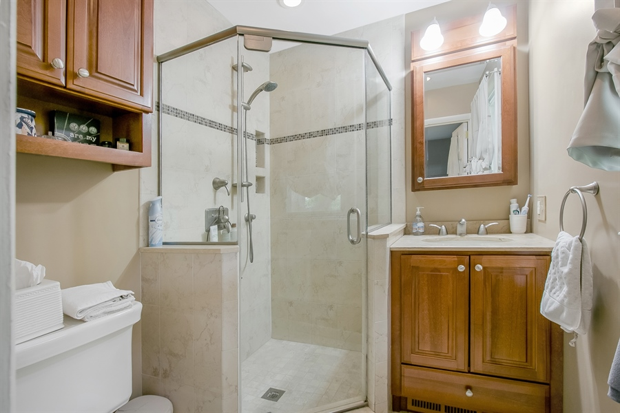 Real Estate Photography - 2040 Floral Dr, Wilmington, DE, 19810 - Updated Master Bath