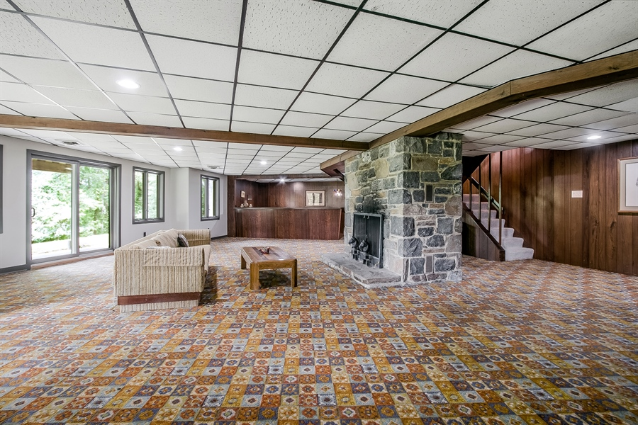 Real Estate Photography - 108 1/2 S Spring Valley Rd, Wilmington, DE, 19807 - Expansive Family Room with Fireplace