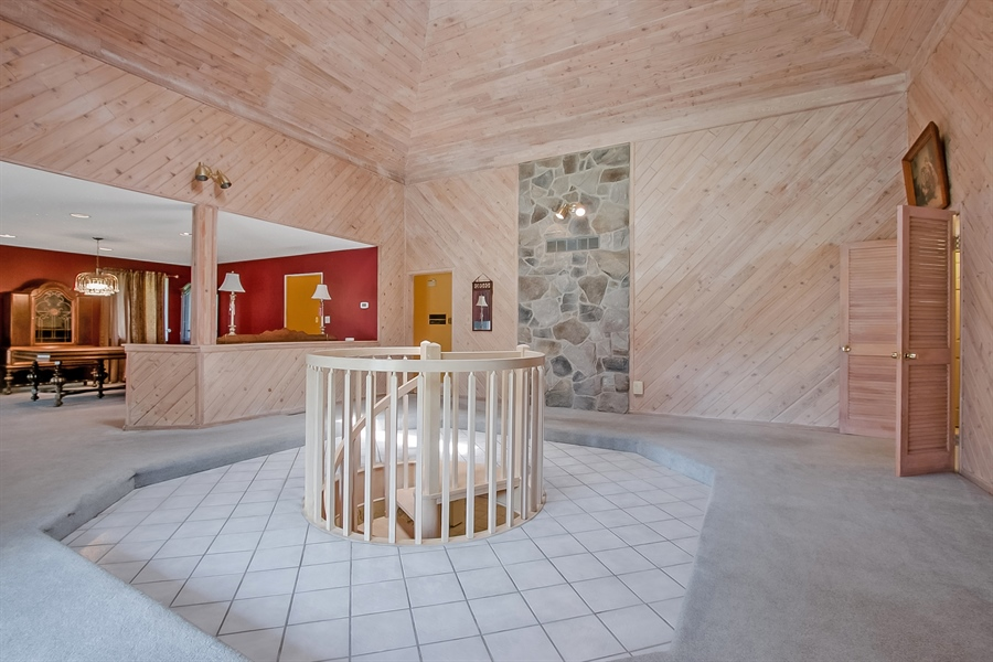 Real Estate Photography - 38 Bernard Blvd, Hockessin, DE, 19707 - Spiral Stairs Lead to Lower Level
