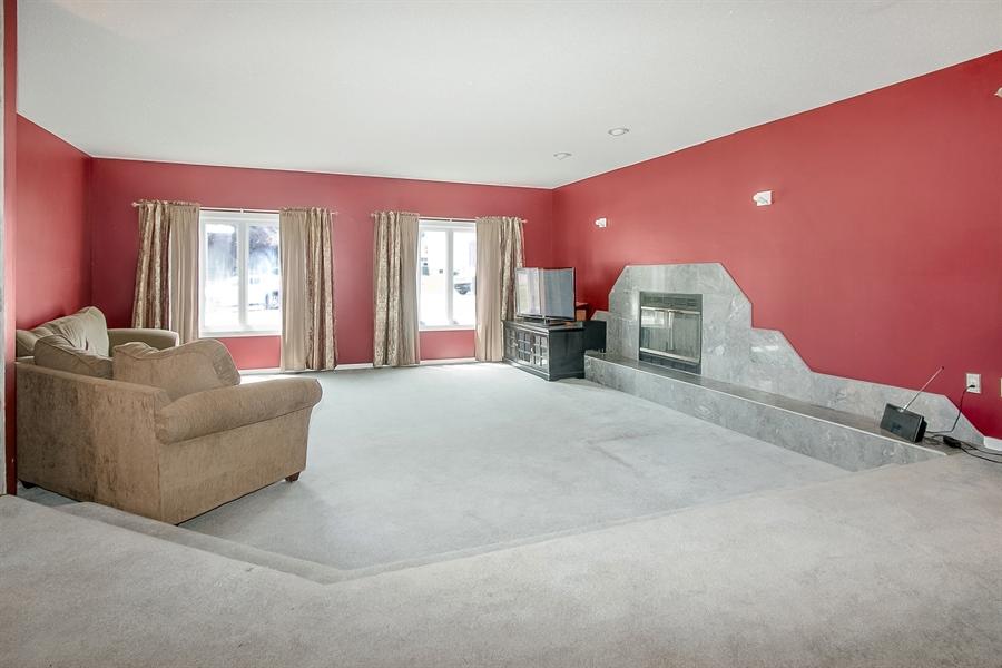 Real Estate Photography - 38 Bernard Blvd, Hockessin, DE, 19707 - Sunken Living Room with Fireplace