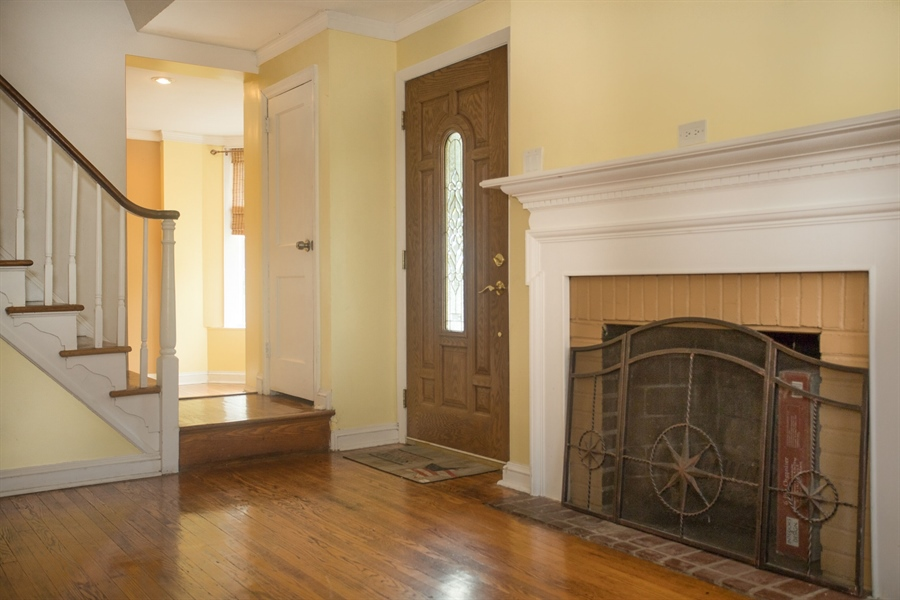 Real Estate Photography - 2 W Salisbury Dr, Wilmington, DE, 19809 - Wood Burning Fireplace
