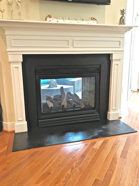 Real Estate Photography - 21414 Catalina Circle #C-12, C-12, Rehoboth  Beach, DE, 19971 - Two Way Fireplace