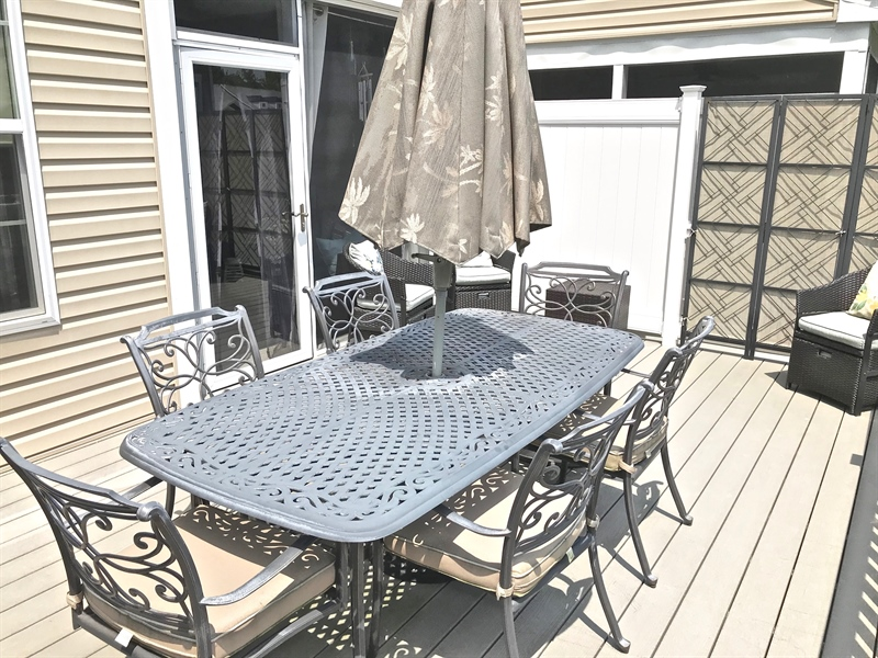 Real Estate Photography - 21414 Catalina Circle #C-12, C-12, Rehoboth  Beach, DE, 19971 - Rear Deck