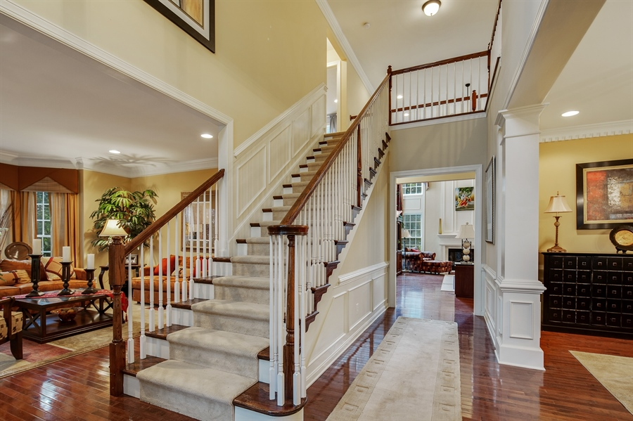 Real Estate Photography - 39 Hempstead Dr, Newark, DE, 19702 - Grand 2 Story Foyer w/Hardwoods throughout.