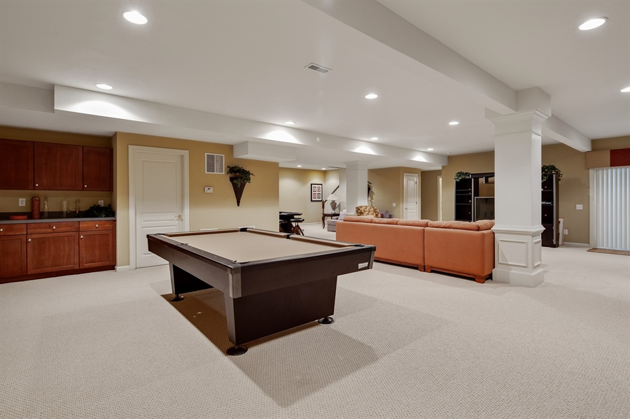 Real Estate Photography - 39 Hempstead Dr, Newark, DE, 19702 - Finished Basement w/Wet Bar, Full Bath and Bedroom