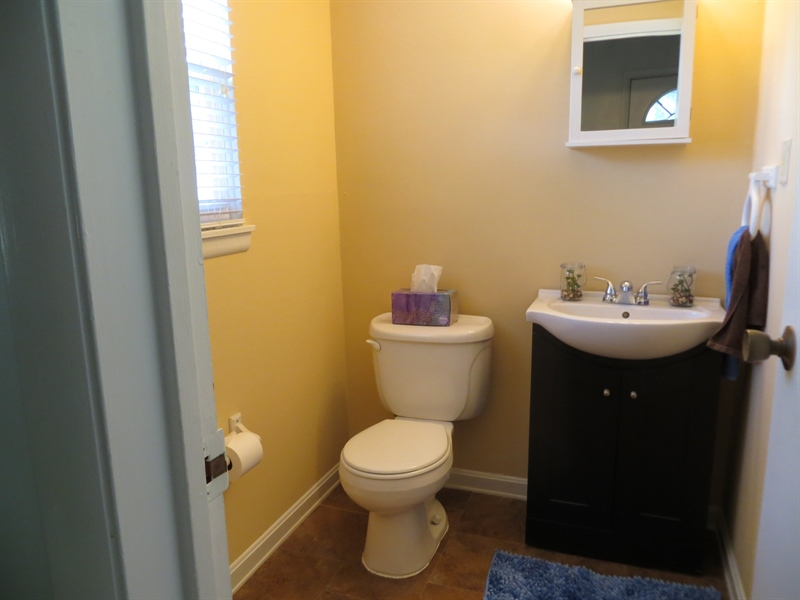 Real Estate Photography - 731 N West St, Dover, DE, 19904 - Downstairs updated half bath