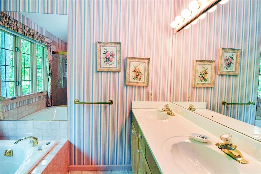 Real Estate Photography - 5 Forest Creek Ln, Wilmington, DE, 19809 - Double sink vanity