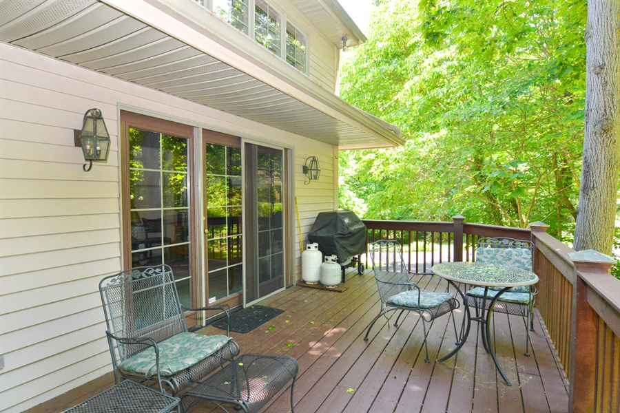 Real Estate Photography - 5 Forest Creek Ln, Wilmington, DE, 19809 - Deck off Family Room