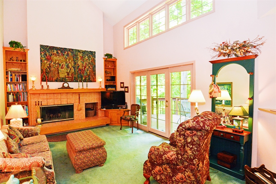 Real Estate Photography - 5 Forest Creek Ln, Wilmington, DE, 19809 - Wood burning fire place