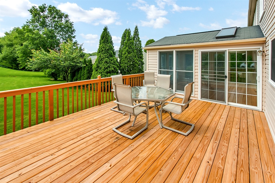 Real Estate Photography - 104 Wren Way, Newark, DE, 19711 - Large Deck...Great For Entertaining!