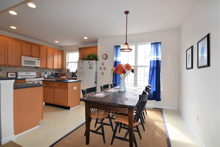 Real Estate Photography - 38399 N Mill Lane #102, 102, Ocean  View, DE, 19970 - Open Floor plan w/Kitch-DR-FR