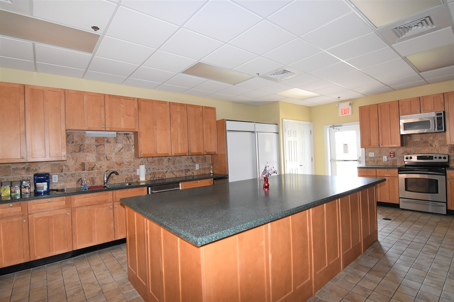 Real Estate Photography - 38399 N Mill Lane #102, 102, Ocean  View, DE, 19970 - Club House Kitchen