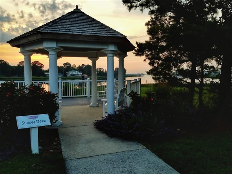 Real Estate Photography - 38399 N Mill Lane #102, 102, Ocean  View, DE, 19970 - Sunset Deck!