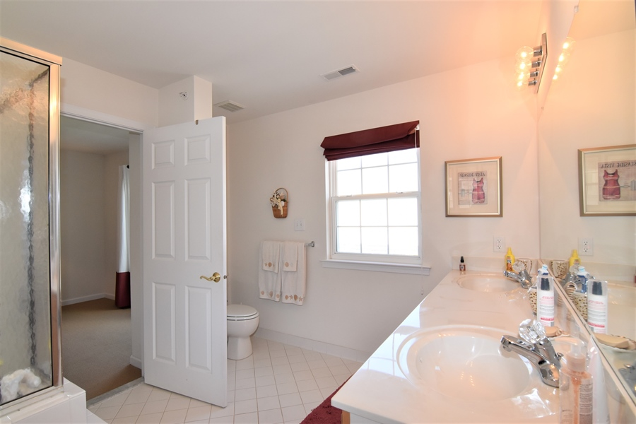 Real Estate Photography - 38399 N Mill Lane #102, 102, Ocean  View, DE, 19970 - Private Master Bath, tiled floor & double sinks