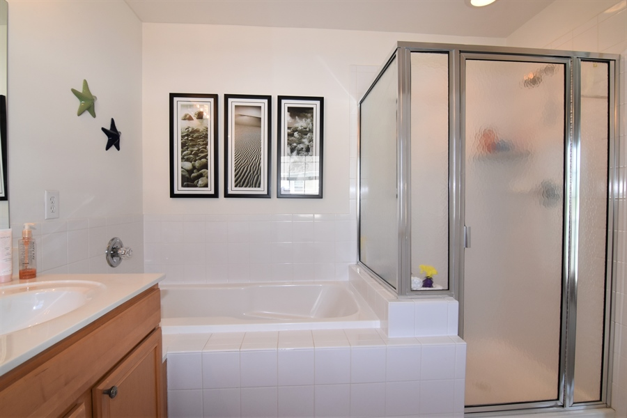 Real Estate Photography - 38399 N Mill Lane #102, 102, Ocean  View, DE, 19970 - Garden Tub & Stall Shower