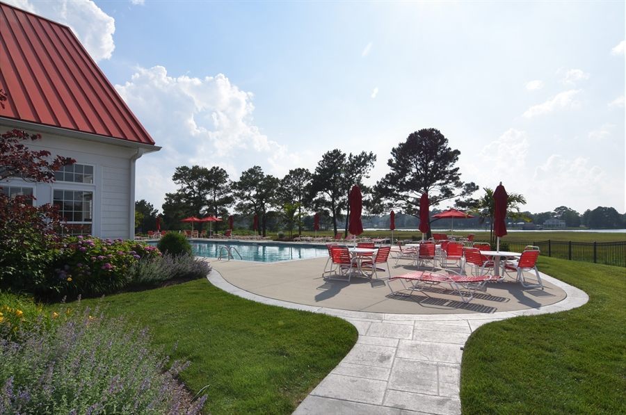 Real Estate Photography - 38399 N Mill Lane #102, 102, Ocean  View, DE, 19970 - Pool with water view! Tough life!