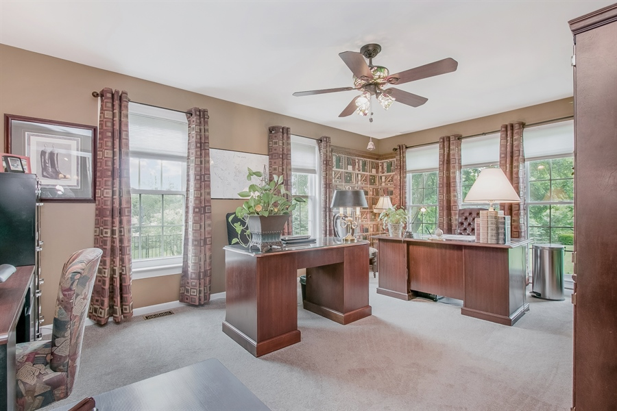 Real Estate Photography - 7 Bayberry Close, Newark, DE, 19711 - Handsome Oversized Study With Lots Of Windows