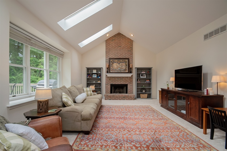Real Estate Photography - 110 Walker Way, Newark, DE, 19711 - Brick, Floor-To-Ceiling Wood Burning Fireplace