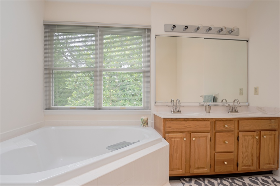 Real Estate Photography - 110 Walker Way, Newark, DE, 19711 - Master Soaking Tub & Double Vanity