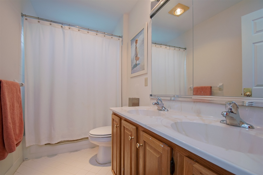 Real Estate Photography - 110 Walker Way, Newark, DE, 19711 - Upper Level Full Bath with Double Vanity