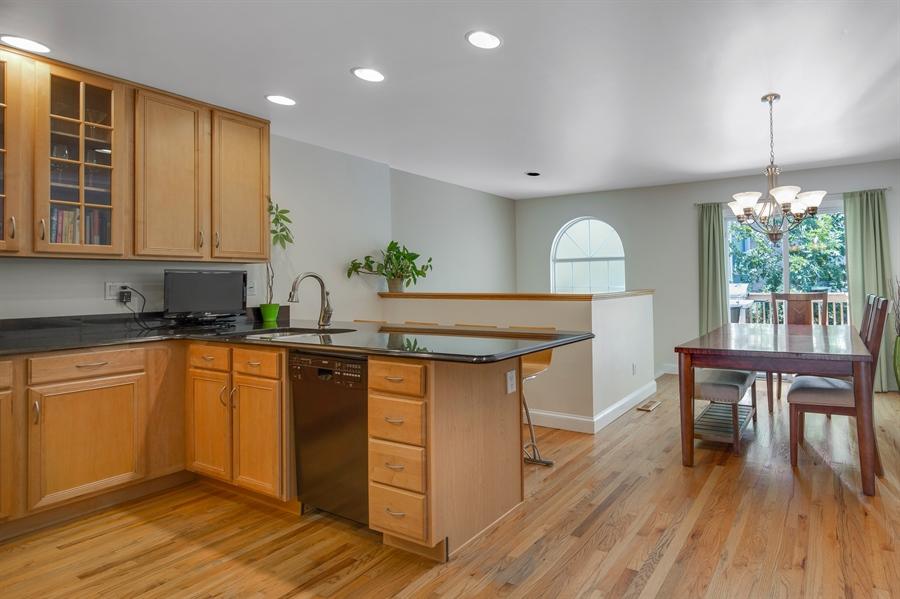 Real Estate Photography - 1411 N Franklin St, Wilmington, DE, 19806 - Sliders to back deck off dining room