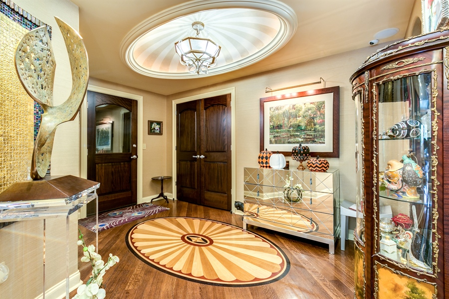 Real Estate Photography - 1702 N Park Drive #18, 18, Wilmington, DE, 19806 - Foyer with custom inlays in flooring