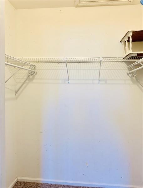 Real Estate Photography - 4603 Birch Cir, Wilmington, DE, 19808 - Spacious master walk-in closet w/attic access