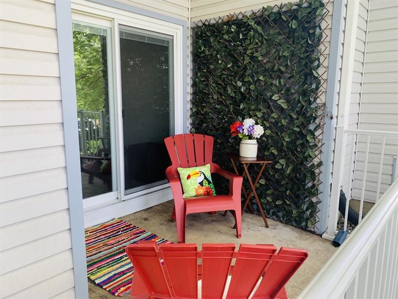 Real Estate Photography - 4603 Birch Cir, Wilmington, DE, 19808 - Rear Porch