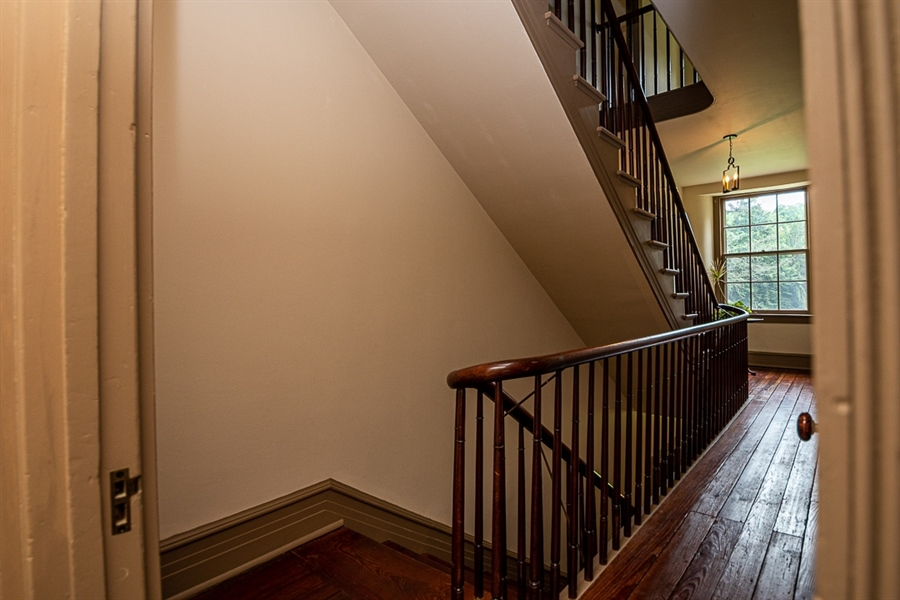 Real Estate Photography - 762 Chambers Rock Rd, Landenberg, PA, 19350 - back stair case from 2nd to 1st floor