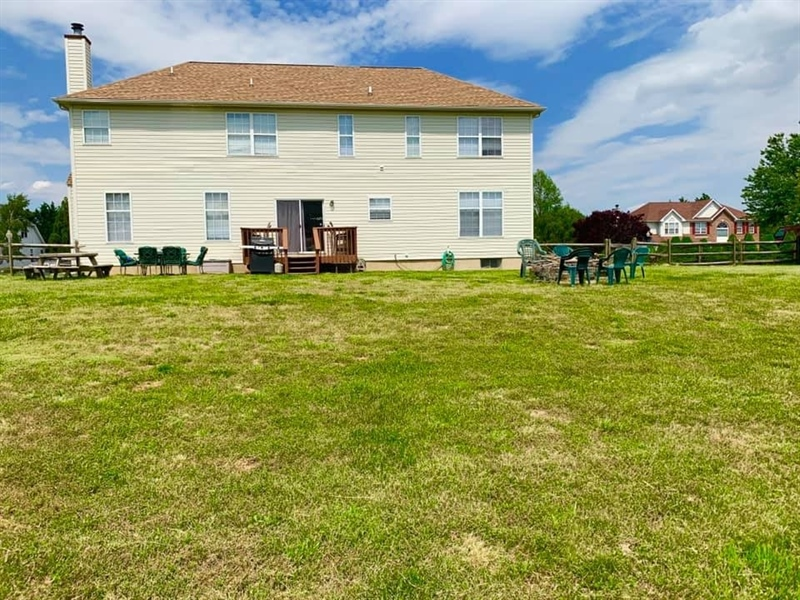 Real Estate Photography - 138 Cornwell Dr, Bear, DE, 19701 - Spacious Backyard. Home sits on a 1/2 acre lot.