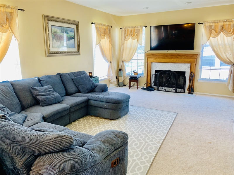 Real Estate Photography - 138 Cornwell Dr, Bear, DE, 19701 - Family Room off of Kitchen w/Fireplace