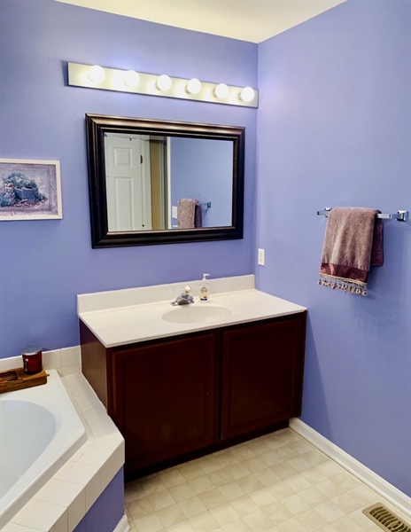 Real Estate Photography - 138 Cornwell Dr, Bear, DE, 19701 - Master Bathroom with 2 seperate sinks