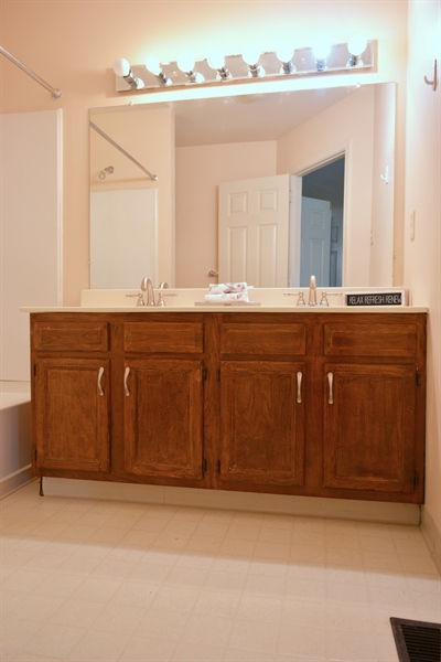 Real Estate Photography - 914 Glackens Ln, Wilmington, DE, 19808 - Master Bathroom with Double Sinks