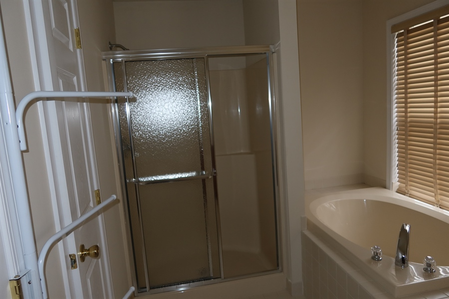 Real Estate Photography - 90 McCormick Way, Lincoln University, PA, 19352 - Plus Shower and Separate Tub