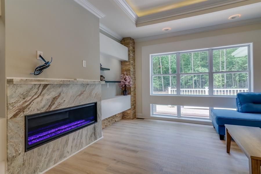 Real Estate Photography - 26180 Tuscany Dr, Millsboro, DE, 19966 - Gas Fireplace