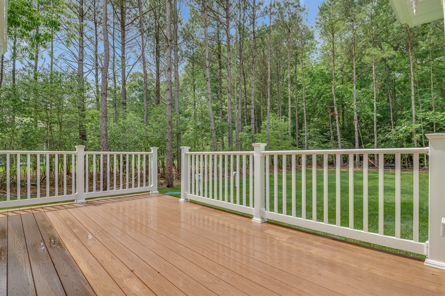 Real Estate Photography - 26180 Tuscany Dr, Millsboro, DE, 19966 - Deck Overlooking Nice and Secluded Back Yard