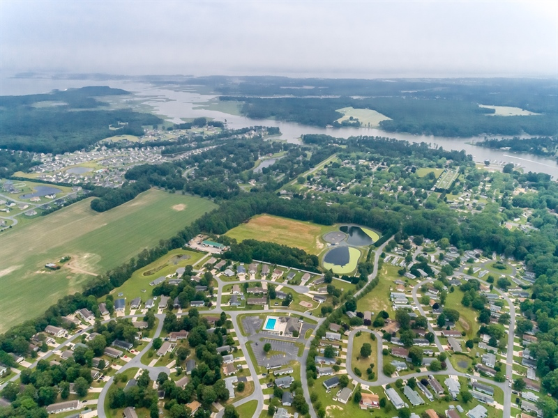 Real Estate Photography - 33034 Suburban Blvd, Lewes, DE, 19958 - Aerial View of Community