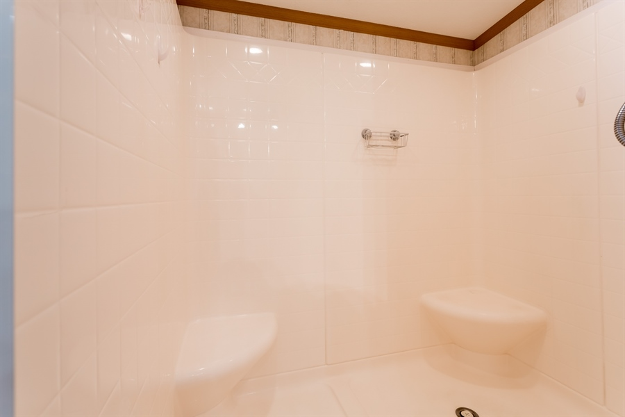 Real Estate Photography - 33034 Suburban Blvd, Lewes, DE, 19958 - Main Bath Double Seated Shower