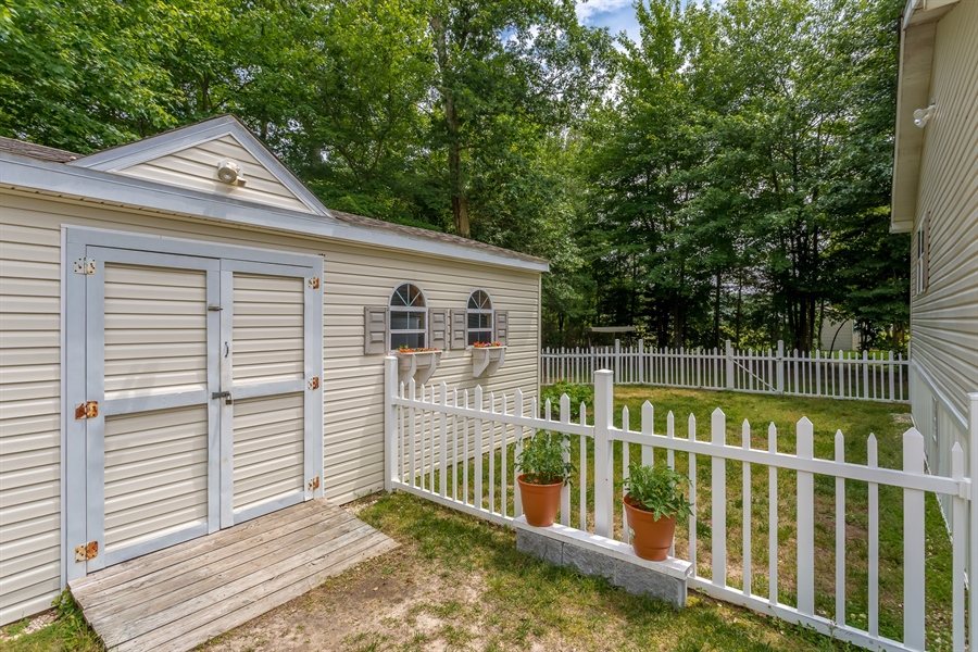 Real Estate Photography - 33034 Suburban Blvd, Lewes, DE, 19958 - Shed Rear Yard
