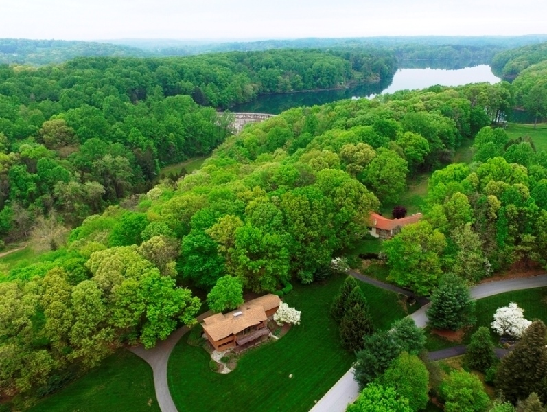 Real Estate Photography - 3319 Breidablik Dr, Greenville, DE, 19807 - Ariel View w/Hoopes Reservoir