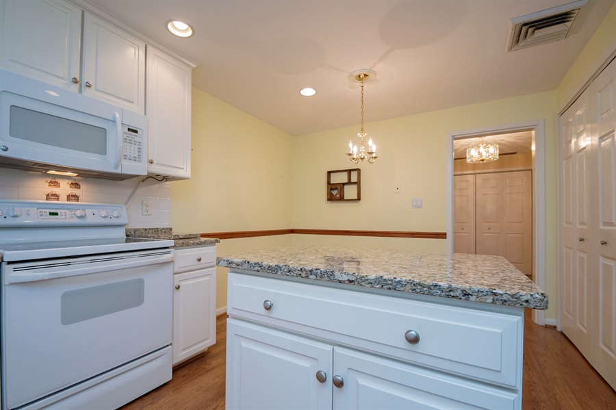 Real Estate Photography - 614 Loveville Rd, Hockessin, DE, 19707 - Another View of the Kitchen & View of Laundry Area