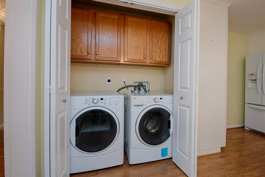 Real Estate Photography - 614 Loveville Rd, Hockessin, DE, 19707 - Convenient Laundry Area