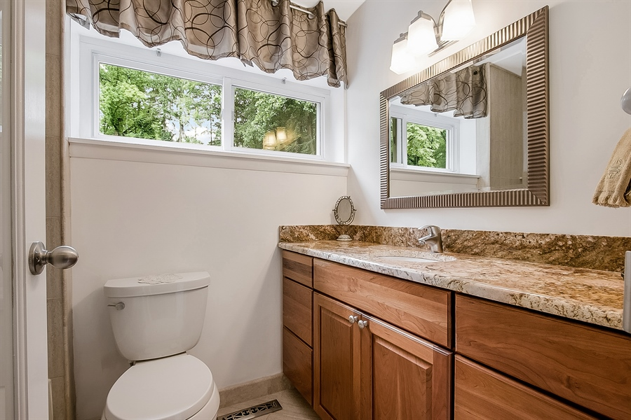 Real Estate Photography - 2 Walnut Ridge Rd, Greenville, DE, 19807 - Master Bath W/Granite Counter & Cherry Cabinets