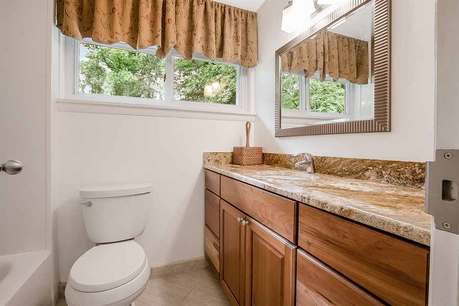 Real Estate Photography - 2 Walnut Ridge Rd, Greenville, DE, 19807 - 2nd Floor Bath with Granite Counters
