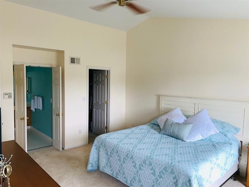 Real Estate Photography - 2 Vireo Cir, Newark, DE, 19711 - Master Bedroom w Walk-in Closet & MBA