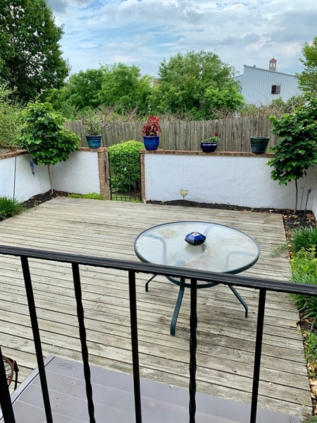 Real Estate Photography - 906 N Bancroft Pkwy, Wilmington, DE, 19805 - Relaxing Back Deck area