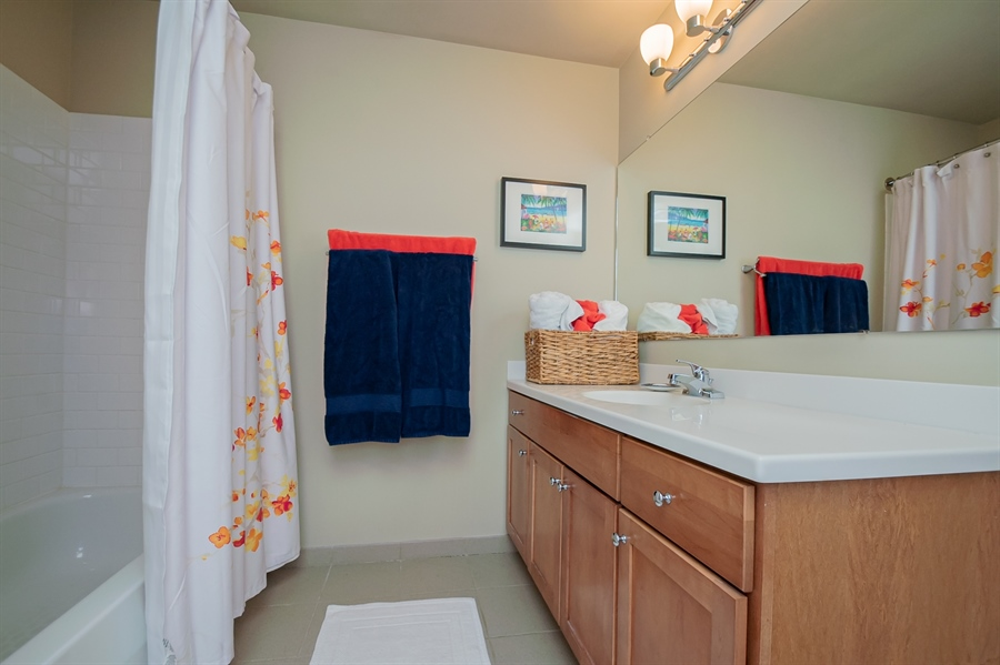 Real Estate Photography - 105 Christina Landing Drive #1308, #1308, Wilmington, DE, 19801 - Bathroom #1 w/ Tub Shower